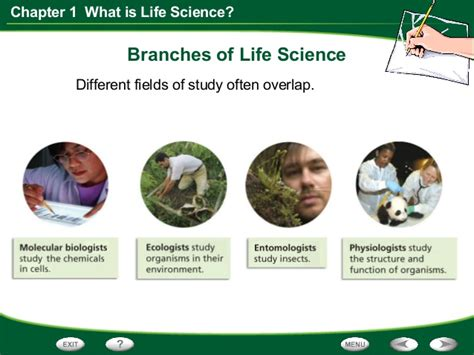 what is biography in science life science chapter 1 section 2 the study of life
