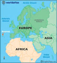 Azores World Map by Azores Map Map Of Azores Azores Outline Map World Atlas