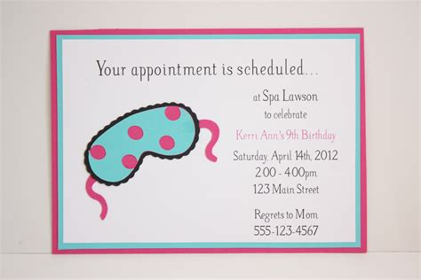 spa birthday invitation template arbonne invite wording invitations ideas
