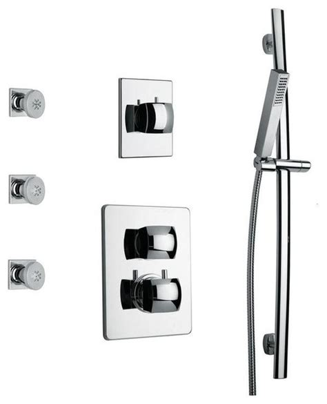 Tub Shower Faucet Combo by Shower Combo 6 In Chrome Tub And