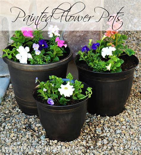 Painted Planter Pots by Painted Flower Pots Meatloaf And Melodrama