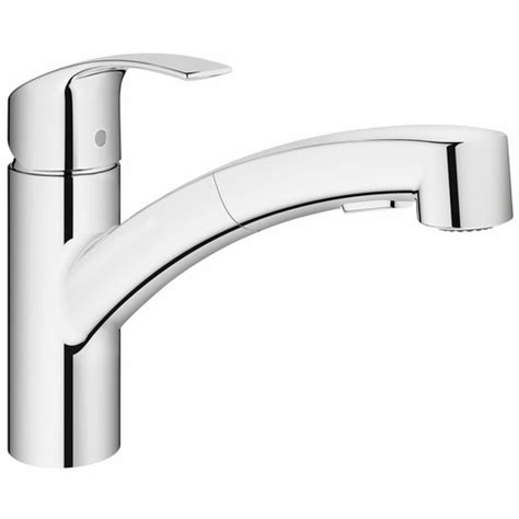 Robinet Eurosmart Grohe by Mitigeur 233 Vier Douchette Extractible Eurosmart Grohe