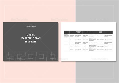 simple plan template simple marketing plan template in word docs apple
