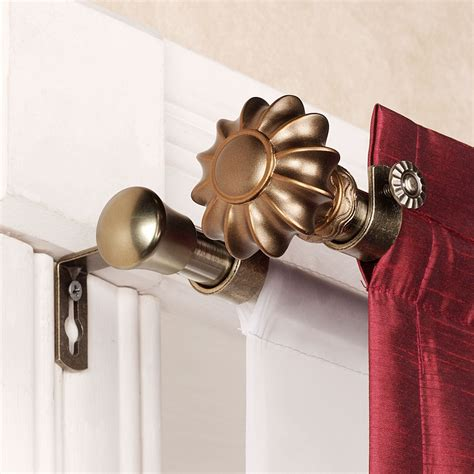 curtain and rod set flair antique brass double curtain rod set 28 quot to 120 quot