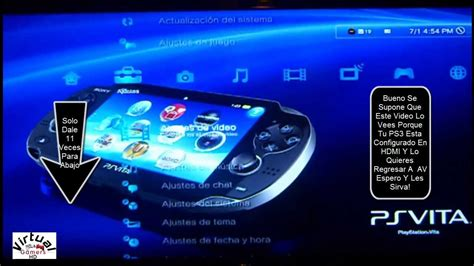 how to reset ps3 video output como configurar el ps3 de hdmi a av buena explicacion