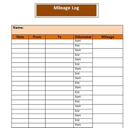 30 Printable Mileage Log Templates Free Template Lab Mileage Log Book Template
