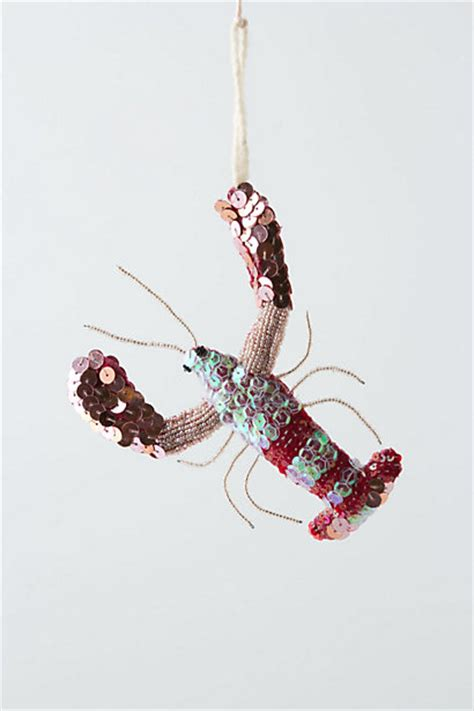 anthropologie inspired felt lobster ornament the