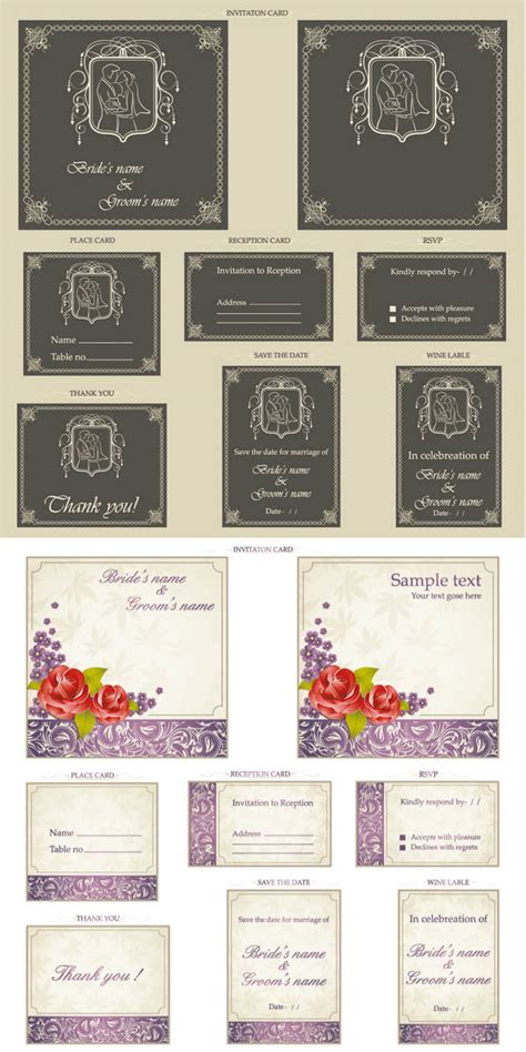 Wedding Invitation Card Eps by Wedding Invitation Cards Vector Free Vectors Images In
