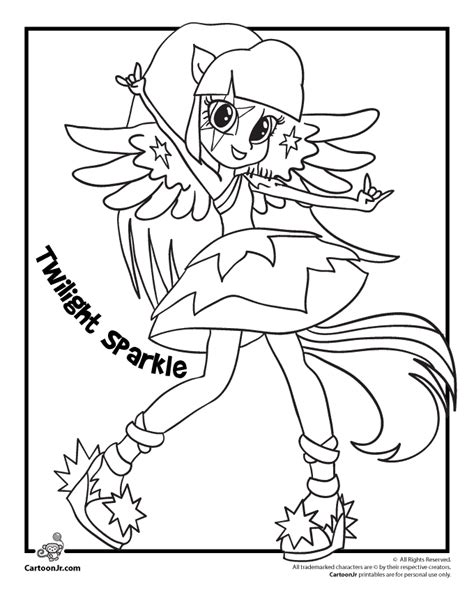 Twilight Sparkle Equestria Girls Coloring Pages Coloring My Pony Equestria Coloring Pages Twilight Sparkle