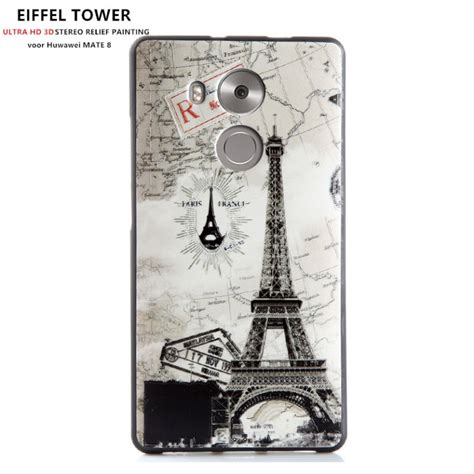 Softcase For Huawei Mate 8 design 3d softcase hoesje huawei mate 8 eiffel tower