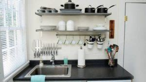 Tatakan Gelas Hiasan Dapur Shabbychic siasat jitu pada desain dapur kecil tanpa kitchen set