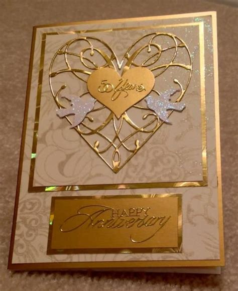 Handmade 50th Anniversary Gifts - best 25 50th anniversary cards ideas on