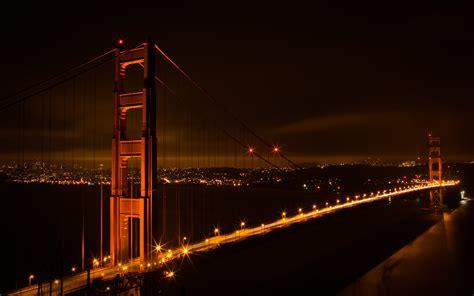 Golden Gate Bridge at night ? HD Wallpaper   Wide Screen