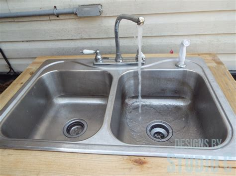 install an outdoor sink faucet