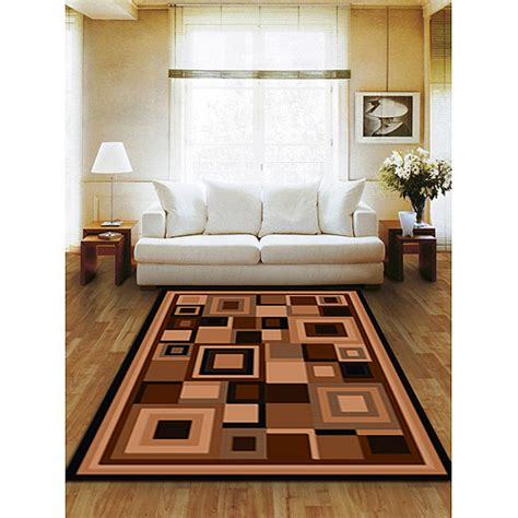 area rugs walmart terra matrix woven olefin square area rug chocolate