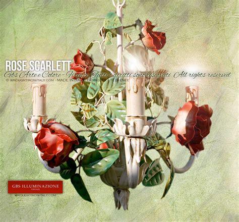 Shabby Chic Wall Sconce Light Rose Scarlett Petit Lustre Romantique Gbs