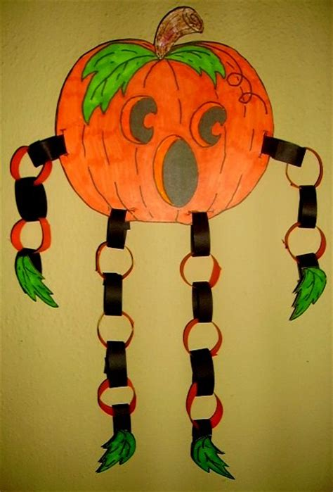 paper chain jack  lantern kids glitter