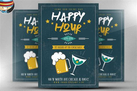 21 Happy Hour Flyer Templates Free Psd Ai Eps Format Download Free Premium Templates Free Happy Hour Invitation Template