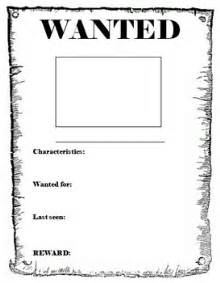 wanted poster template by miss db teachers pay teachers