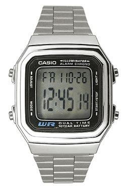 s watches casio casual classic with metal band