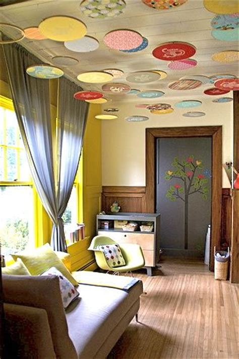 Nursery Ceiling Decor Decorating With Embroidery Hoops Design Dazzle