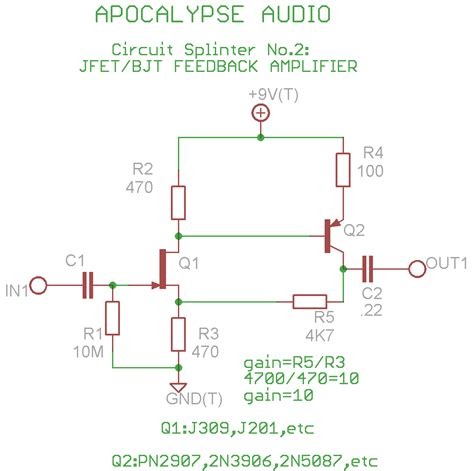 transistor buffer power lifier apocalypse audio circuit splinters no 2 sziklai pair buffer