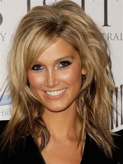 haircuts for round face layers layered haircut for round face
