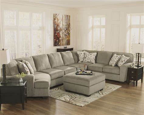 ashley furniture patina sectional patola park patina cuddler sectional by ashley furniture
