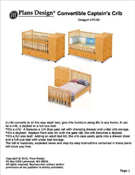 Convertible Baby Crib Plans Woodworking Convertible Crib Plans Free Plans Pdf
