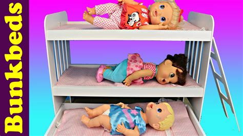baby alive bed baby alive triple bunk beds 3 babies in a doll bed
