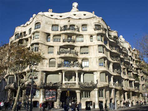 gaudi casa mila casa mil 225 de antoni gaud 237 paseo de gracia barcelona