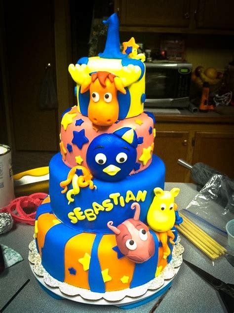 Ideas For Backyard Birthday Party Bolo Dos Backyardigans Decorado Bolos De Anivers 225 Rio