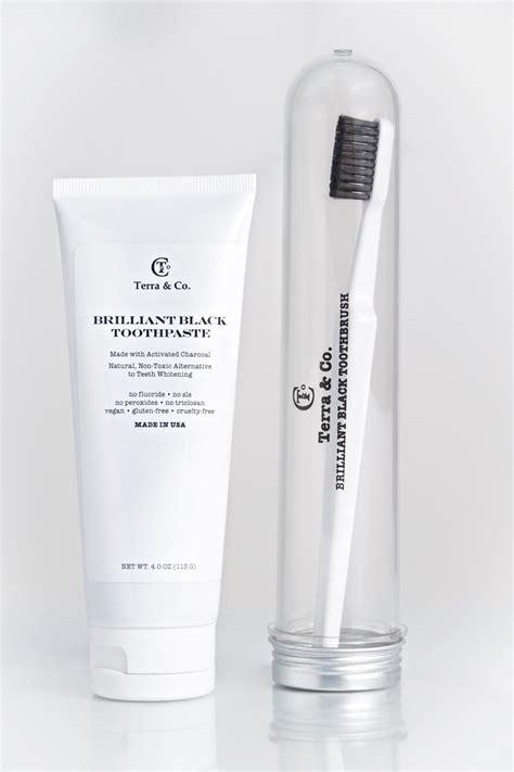 terra  brilliant black toothpaste  toothbrush
