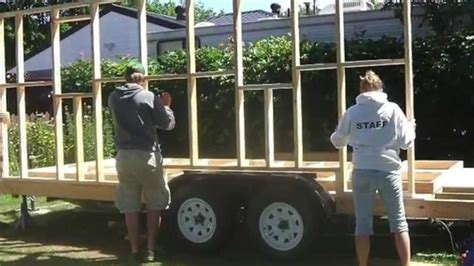how to build a tiny house part 4 building the frame building a tiny home on a cer trailer part one youtube
