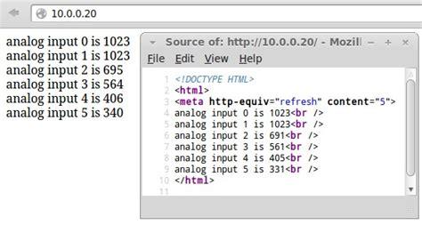 tutorial arduino web server html web page structure for arduino web server