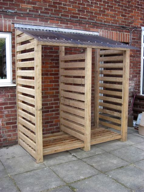 Build A Wood Storage Rack by How To Build A Covered Firewood Storage Rack Woodworking
