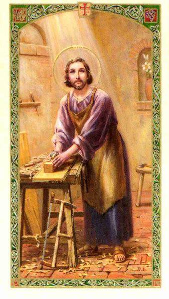 st joseph worker english holy card