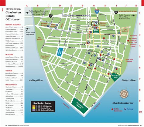 charleston historic district illustrated map books charleston sc maps traveler mag