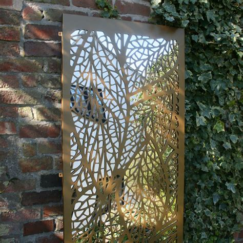 leaf pattern garden mirrors laser cut screens for