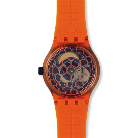 Swatch Automatic swatch automatic sistem51 orange sistem tangerine model suto401