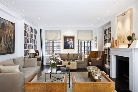 living room nyc west side pre war coop luxury