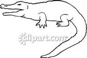 Crocodile Image Outline by Crocodile Outline Clipart Clipart Suggest