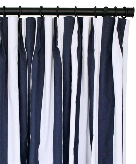 Nautical Striped Curtains Decor Banda Navy Fabric From Tonic Living Home Sweet Home Guest Room Office Pinterest
