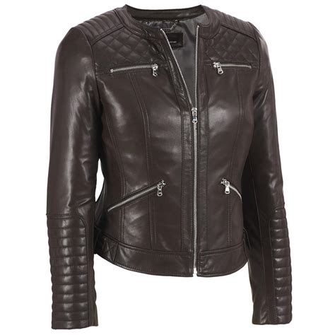 wilsons leather womens quilted shoulder center zip