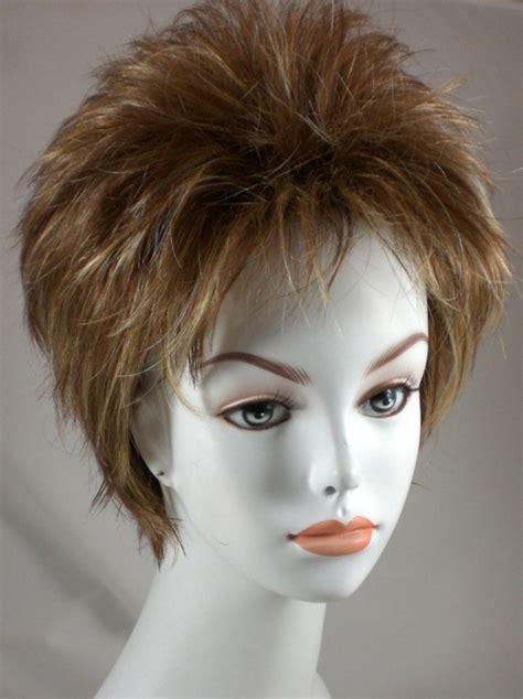 spikey short wigs fun short straight spiky red brown black blond wig w