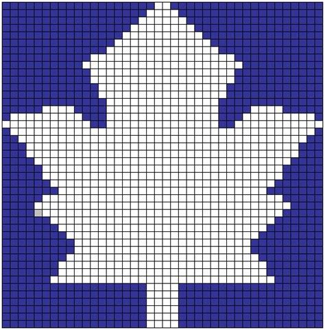 Anu To The Rescue Free Pattern Maple Leaf Chart