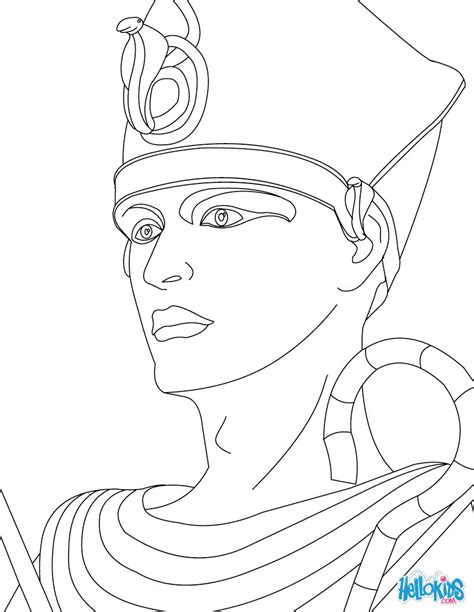 coloring pages of egyptian pharaohs pharaoh ramses 2 coloring pages hellokids com