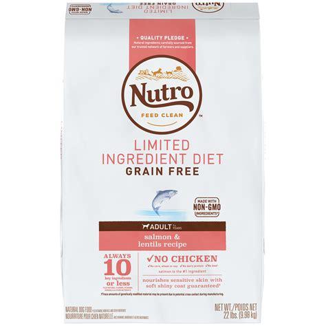 limited ingredient food nutro limited ingredient diet salmon lentils recipe food petco