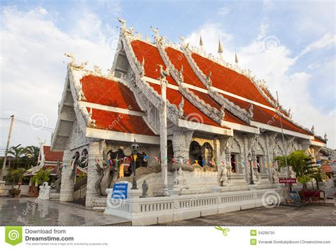 Thai Design by Northern Thai Style Temple Stock Image Image 34299791