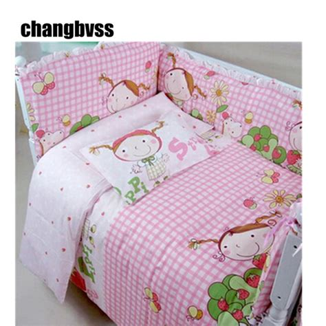 your baby girls bedding sets in pink ward log homes pink lovely girl print baby bedding set for girls cartoon
